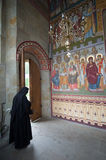 A monk at the Putna Monastery Stock Images