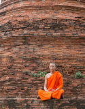 Monk at Putthaisawan temple in Thailand Royalty Free Stock Photo