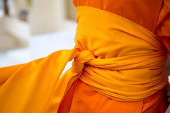 Monk with robes Royalty Free Stock Photos