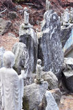 Monk rock in waujeongsa temple Royalty Free Stock Photo