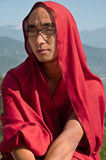 Monk at Rumtek Monastery Royalty Free Stock Photo