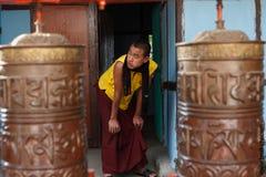 Monk in the Rumtek Monastery Stock Photography