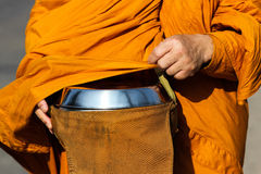 Monk s alms bowl. A container for the people of the Buddhist monks Royalty Free Stock Photos