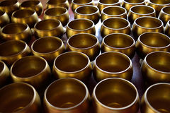 Monk's alms bowl. In temple with put the coins by donors royalty free stock image