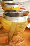 Monk's alms-bowl. Thai Buddhist Royalty Free Stock Image