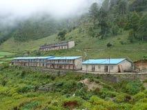 Monk's school and dormitory - Lho Monastery - Nepal Stock Photography