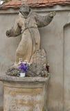 Monk sculpture. Olesko, Ukraine Royalty Free Stock Photos