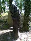 Monk. Sculpture monk in the Polish countryside Stock Image
