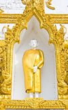 Monk sculpture in Thai style art flam Royalty Free Stock Photos