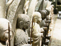 Monk sculptures at Hase temple, Kamakura, Japan Royalty Free Stock Image