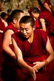 A monk of Sera Monastery Debating Monks Lhasa Tibet Stock Photography