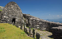 Monk settlement in county kerry. Famous irish protected ancient monk settlement in county kerry stock images
