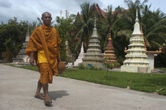 Monk in Siem Reap. Cambodia Royalty Free Stock Photography