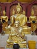Monk statue Stock Image