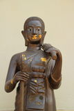 Monk statue. Close up for statue of monk , Shin Thiwali or Sivali royalty free stock images