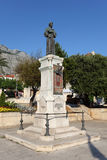 Monk statue in Makarska, Croatia Stock Photo