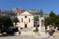 Monk statue in Makarska, Croatia Stock Image
