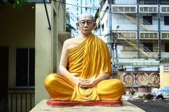 Monk statue in Phnom Penh Cambodia. Stock Photography