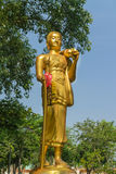 Monk statue for Shin Thiwali or Sivali Royalty Free Stock Photo