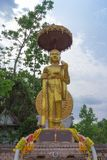Monk statue for Shin Thiwali or Sivali Stock Photo