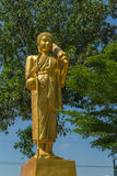 Monk statue for Shin Thiwali or Sivali Royalty Free Stock Photos