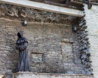 Monk Statue in Tallinn Royalty Free Stock Photography