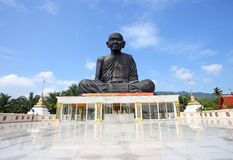 Monk statue in thailand Royalty Free Stock Photography