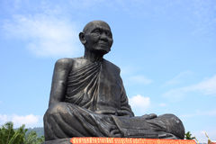 Monk statue in thailand Stock Photos
