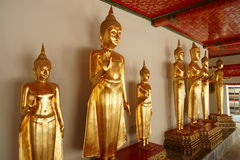Monk Statues at Wat Pho Royalty Free Stock Photo
