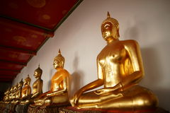 Monk Statues at Wat Pho Royalty Free Stock Images