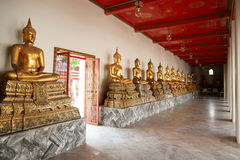 Monk Statues at Wat Pho Royalty Free Stock Photography