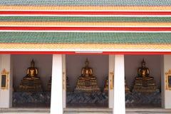 Monk Statues at Wat Pho. Wat Pho buddhist temple, Bangkok, Thailand. Monk statues Royalty Free Stock Photos