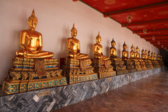 Monk Statues at Wat Pho Royalty Free Stock Image