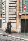 Monk on the street of Rome Stock Photos