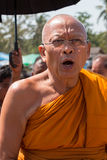 Monk Suthep Thaugsuban exchanges greeting Royalty Free Stock Photo