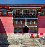 The monk in Tengboche Monastery, Nepal royalty free stock images