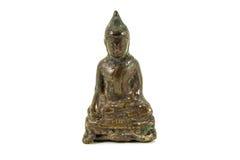 Monk Thai amulet and talismans amulets. White background Stock Image