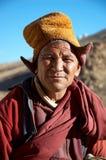 monk tibet Arkivfoto