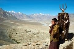 monk tibet Royaltyfri Fotografi