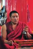 Monk in Tibet Stock Photos