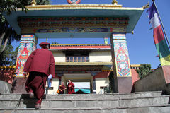 Monk walk Stock Images