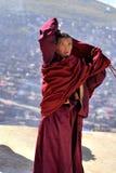 A monk was whorshiping Royalty Free Stock Photos