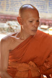 Monk in Wat Preah Ang Thom Royalty Free Stock Images