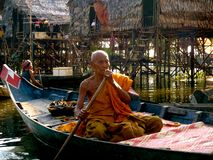 Monk on water Royalty Free Stock Photography
