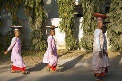 Traditional Burmese Monks Royalty Free Stock Photo