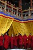 Monkes budista y principiantes Fotos de archivo libres de regalías