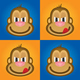 Monkey вектор, милая обезьяна, смешная обезьяна, голова обезьяны Стоковое фото RF