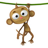Monkey. Funny cartoon character brown monkey Stock Photo
