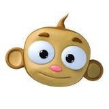 Monkey. Funny cartoon character brown monkey Royalty Free Stock Photos