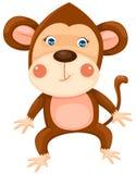 Monkey. Illustration of isolated cartoon monkey on white background Royalty Free Stock Images